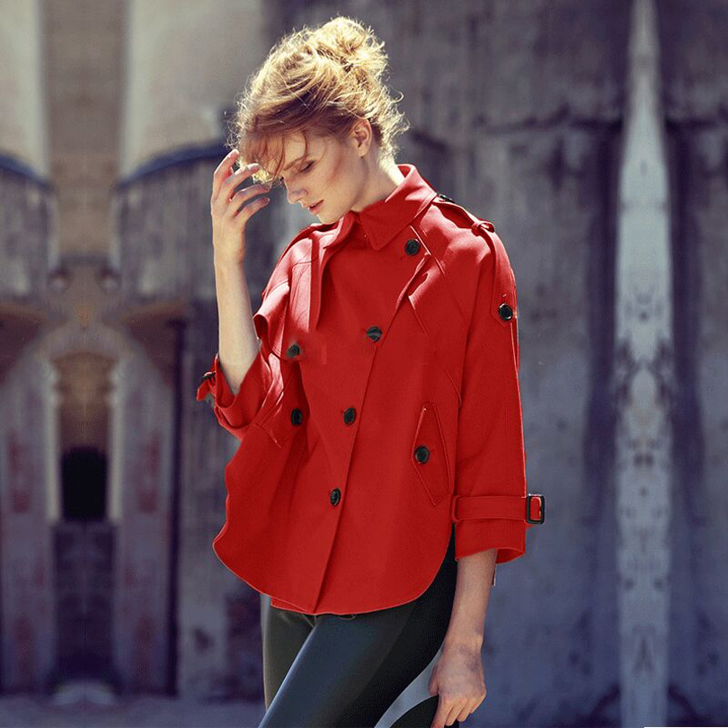 aliexpresscom buy british style red trench coat for women classical coffee color cloak epaulet decoration manteau femme autumnwinter 2016 from reliable - Manteau Femme Color