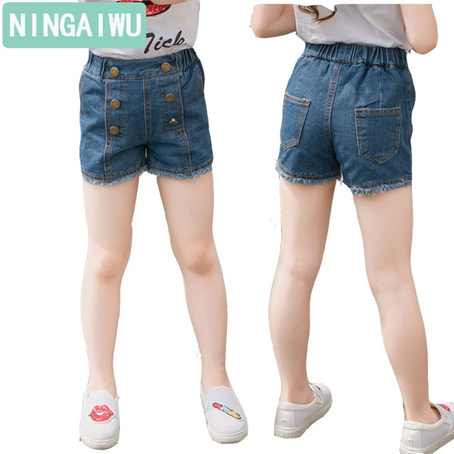 Girls Summer Wear Slacks Jeans Children Clothing 5 6 7 8 9 10 11 12 Years Girl Minutes Of Pants Kids High Thin Hot Style