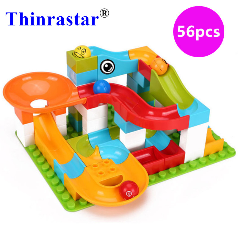 Happy Slideway Large Building Block Slide DIY Classic Piece Big Size Set Toy Accessories Compatible