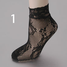 1Pair New Women Harajuku Black Breathable Lace Nylon Fishnet Socks Sexy Hollow out Lady Girls Mesh Nets Socks Good Quality(China)
