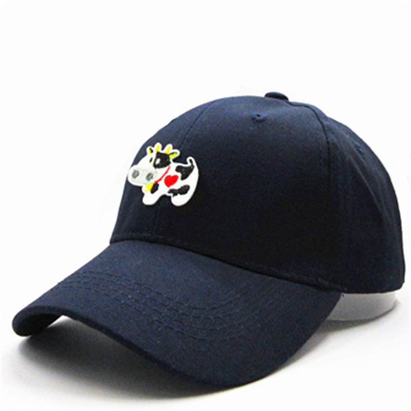 Snapback Hats Baseball-Cap Embroidery Cow-Animal Adjustable Cotton Women for And 151