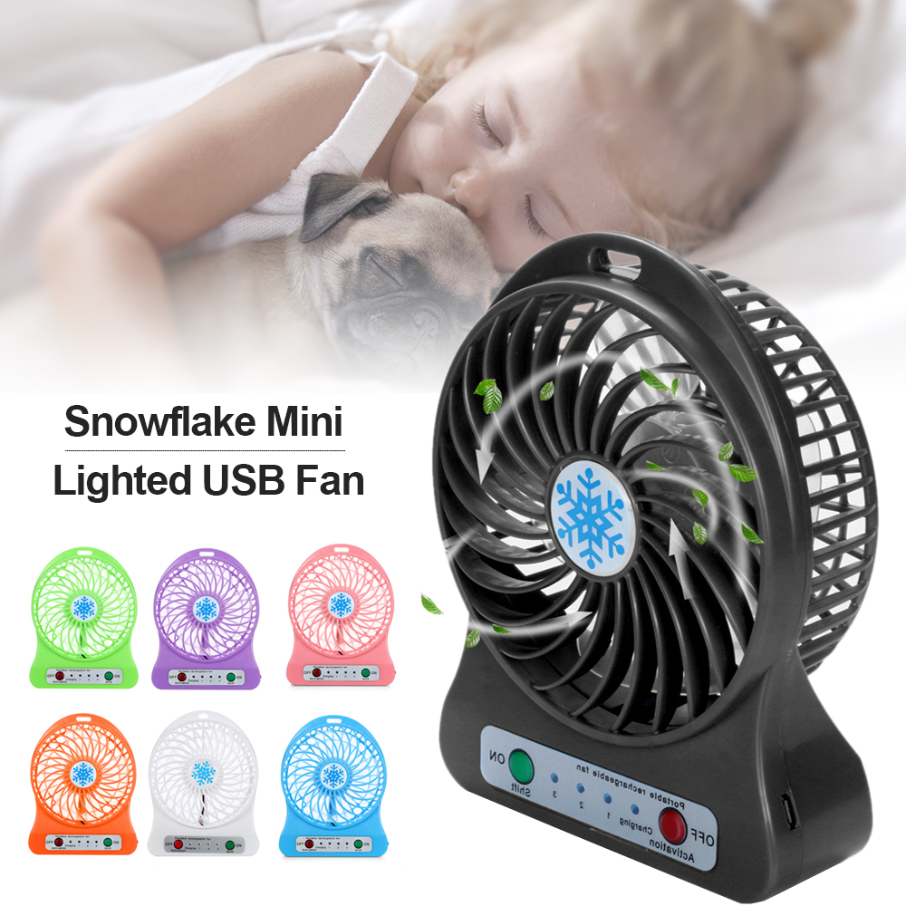 Desk Cooling Fan with 4 Colors Optional ForHe Mini USB Clip Ventilatore Fan
