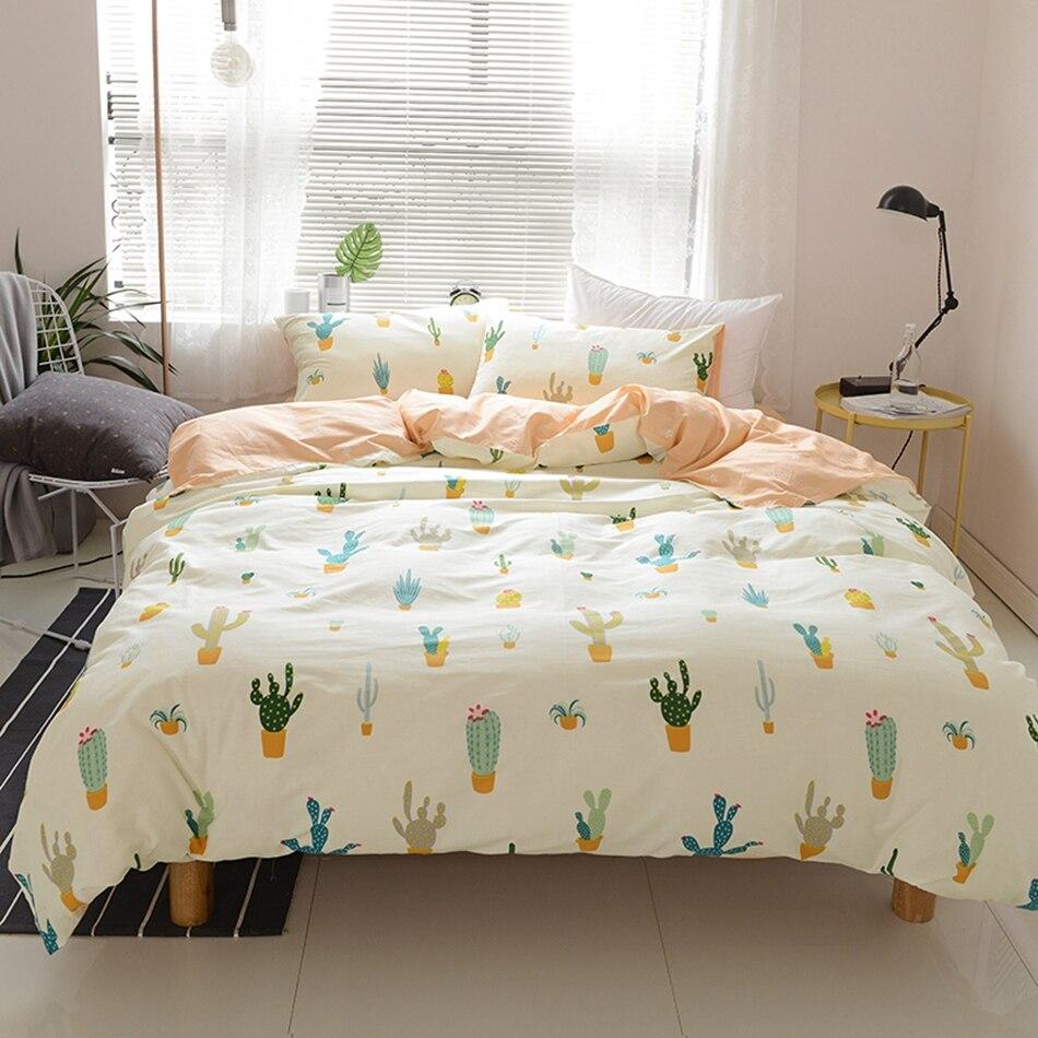 Plants Duvet Cover Set 100% Cotton Girls Bedding Set Queen ...