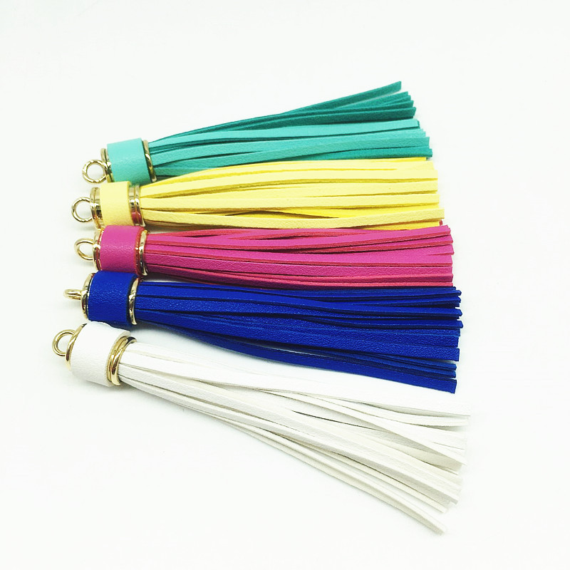 12pcs/lot Personalized suede tassel Pendant leather tassels for Keychain bag Cellphone Pendant home decoration DIY accessories