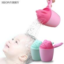 все цены на Cute Cartoon Baby Bath Caps Toddle Shampoo Cup Children Bathing Bailer Baby Shower Spoons Child Washing Hair Cup Kids Bath Tool онлайн