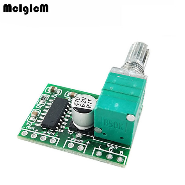 MCIGICM SAMIORE ROBOT PAM8403 mini 5V digital amplifier board with switch potentiometer can be USB powered