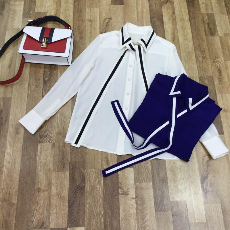 Vêtements Blouses De Luxe amp; Partie S01260 Design Piste Femmes Marque 2019 Mode Européenne Chemises Style qCw6En0