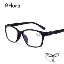 Ahora ultralekki okulary do czytania mężczyźni kobiety powiększające okulary do czytania okulary okulary okulary korekcyjne okulary + 1 0 + 4 0 tanie tanio Unisex Jasne Lustro Poliwęglan 0023 5 3cm Z tworzywa sztucznego 3 8cm