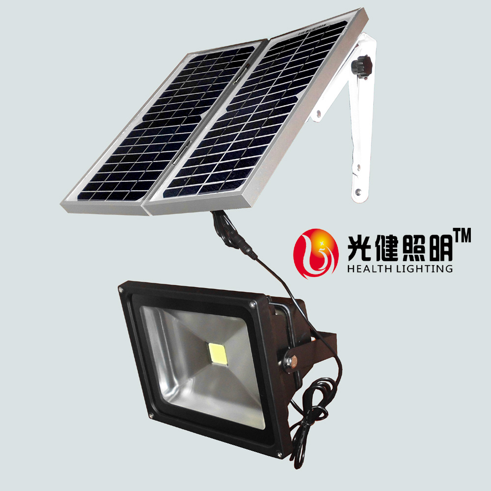 ФОТО 30W solar light Rechargeable light max. working time8hours high power outdoor LED floodlight IP65 camping solar light