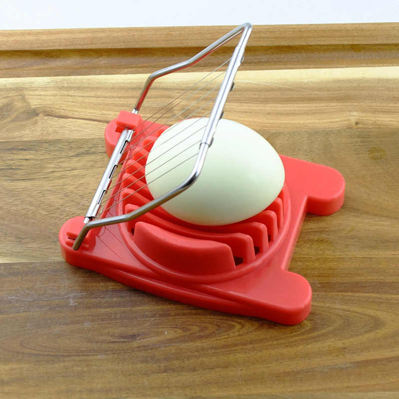 3 Colors Optional Egg Slicers Chopper Stainless Steel Fruit Cutter Egg Tools Manual Food Processors Kitchen Tools Gadgets