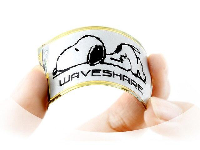 Waveshare 212 × 104 、 2.13 インチ柔軟な電子インク生ディスプレイ、ブラック/ホワイトカラー、 SPI インタフェース、 No PCB 、ラズベリーパイ 2B/3B/ゼロ/ゼロワット