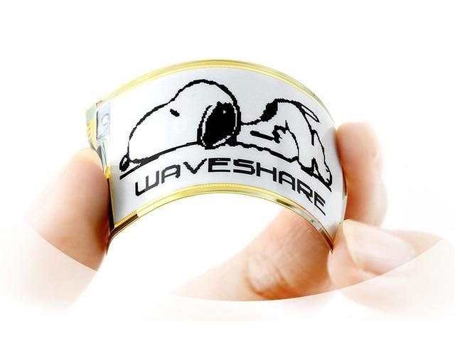 Waveshare 212x104, 2.13 inç esnek E mürekkep ham ekran, siyah/beyaz renk, SPI arayüzü, Hiçbir PCB, Ahududu Pi için 2B/3B/Sıfır/Sıfır W