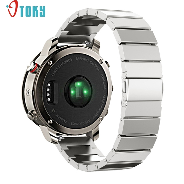 Nye Excellent Quality For Garmin Fenix Chronos Solid Stainless Steel ZZ-39