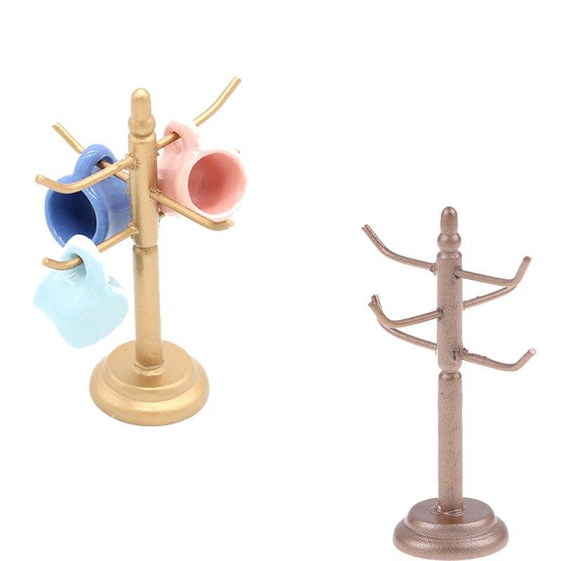Hardwerkend Houten Rack Standhouder Poppenhuis Meubels Decoratie Zonder Cup 6age + Miniatuur Eetkamer Bar Poppenhuis Wijn Cups