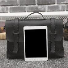 379b7111b7be Бизнес Для мужчин Портфели из искусственной кожи Посланник ноутбук Тетрадь  сумка мужской Crossbody сумки на плечо