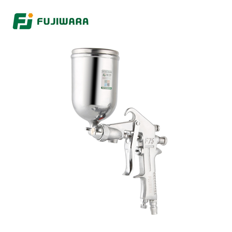 FUJIWARA F-75 Pneumatic Spray Lacquer Gun 1.5mm Caliber 400ml/750ml Capacity High Pressure Spray Gun alterna лак сильной фиксации caviar anti aging extra hold hair spray 400ml