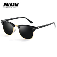 NALOAIN Sunglasses Polarized Lens UV400 Sport Vintage Sun Glasses Driving Goggles For Men Women Fishing Outdoor High Quality