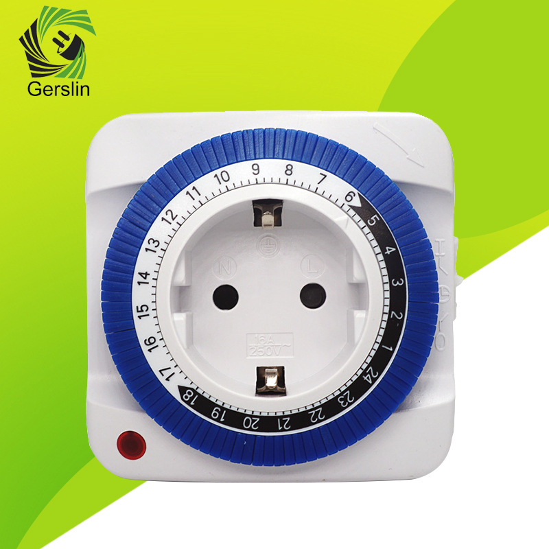 European German Standard Mechanical Intelligent Timer Socket 24 hour Switching Time Controller-in Electrical Sockets from Home Improvement