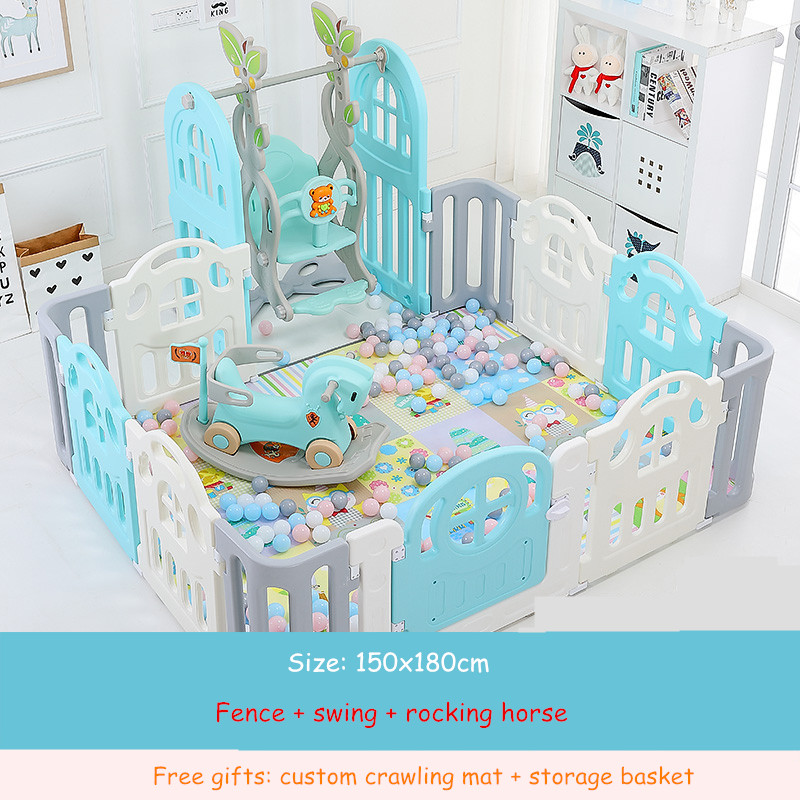 Kids Baby Fence Playground Indoor Family Amusement Park Baby Toddler Fence Safety Playpen for Baby Barriere De Securite Enfant