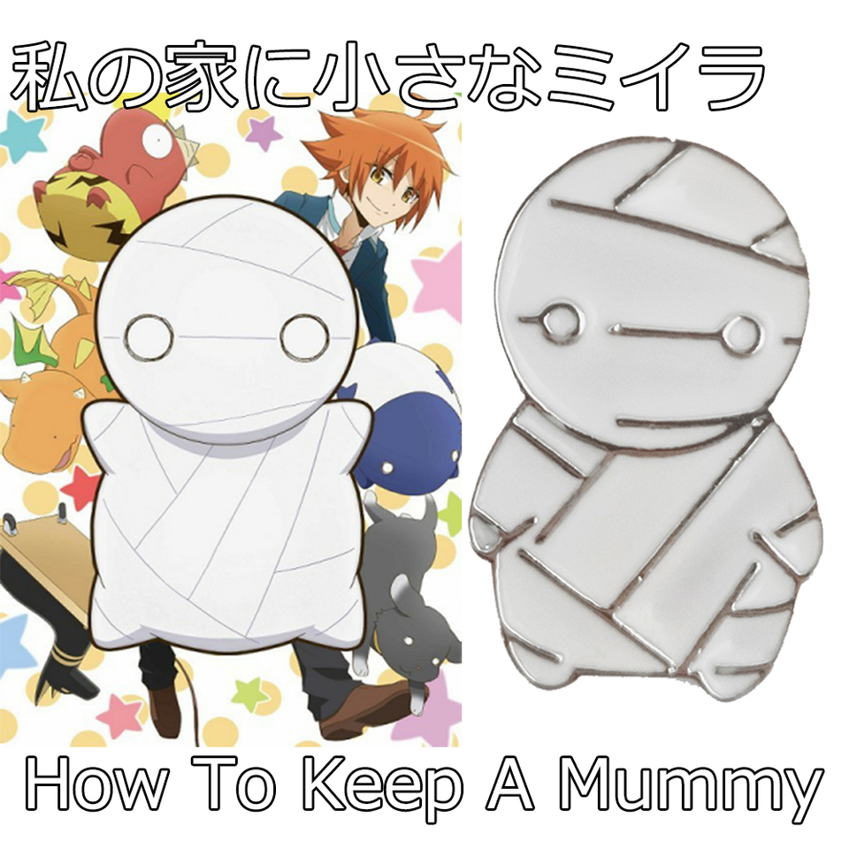 Anime How To Keep A Mummy Mii Kun Brooch Hotel Transylvania 3 Cute Egyptian Corpse White Enamel Pins And Badges Otaku Gift Brooches Aliexpress Seriously, how to keep a mummy has no business being as charming as it is. mummy mii kun brooch hotel transylvania