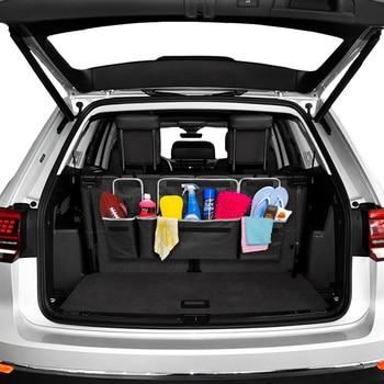 Organizador de coche bolsa de almacenamiento de maletero caja de administración organizador de asiento trasero de automóvil multiuso alta capacidad asiento trasero almacenamiento