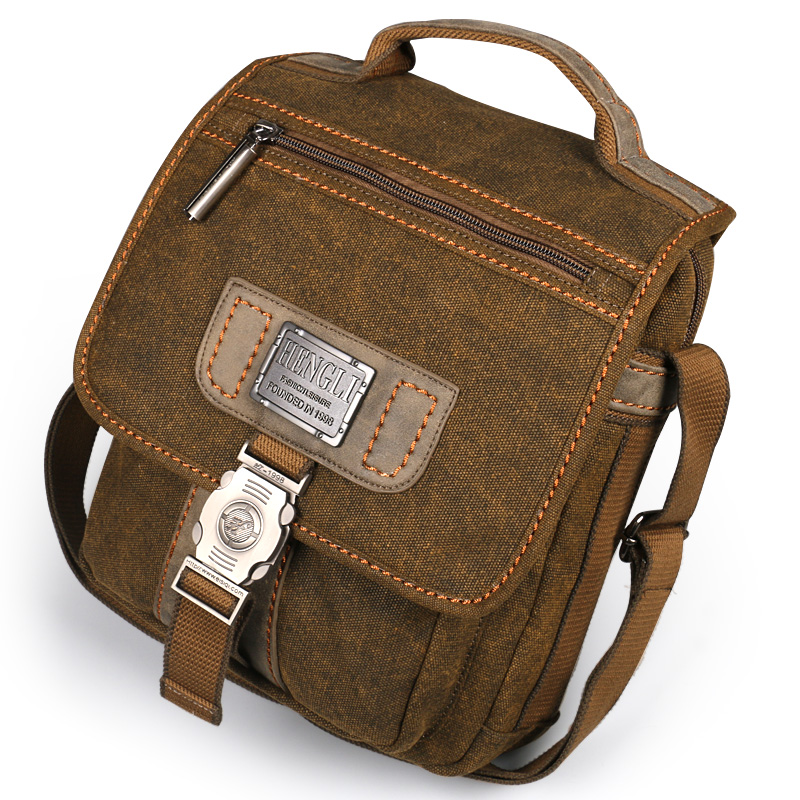 Canvas bag men shoulder bags leisure wear resistant retro cross messenger Vintage bag casual fashion crossbody