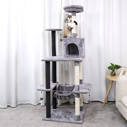 Entrega nacional Torre del árbol del gato mascotas jugando árbol rascador arbre a chat escalada juguete Marco de salto mascotas rascador gato