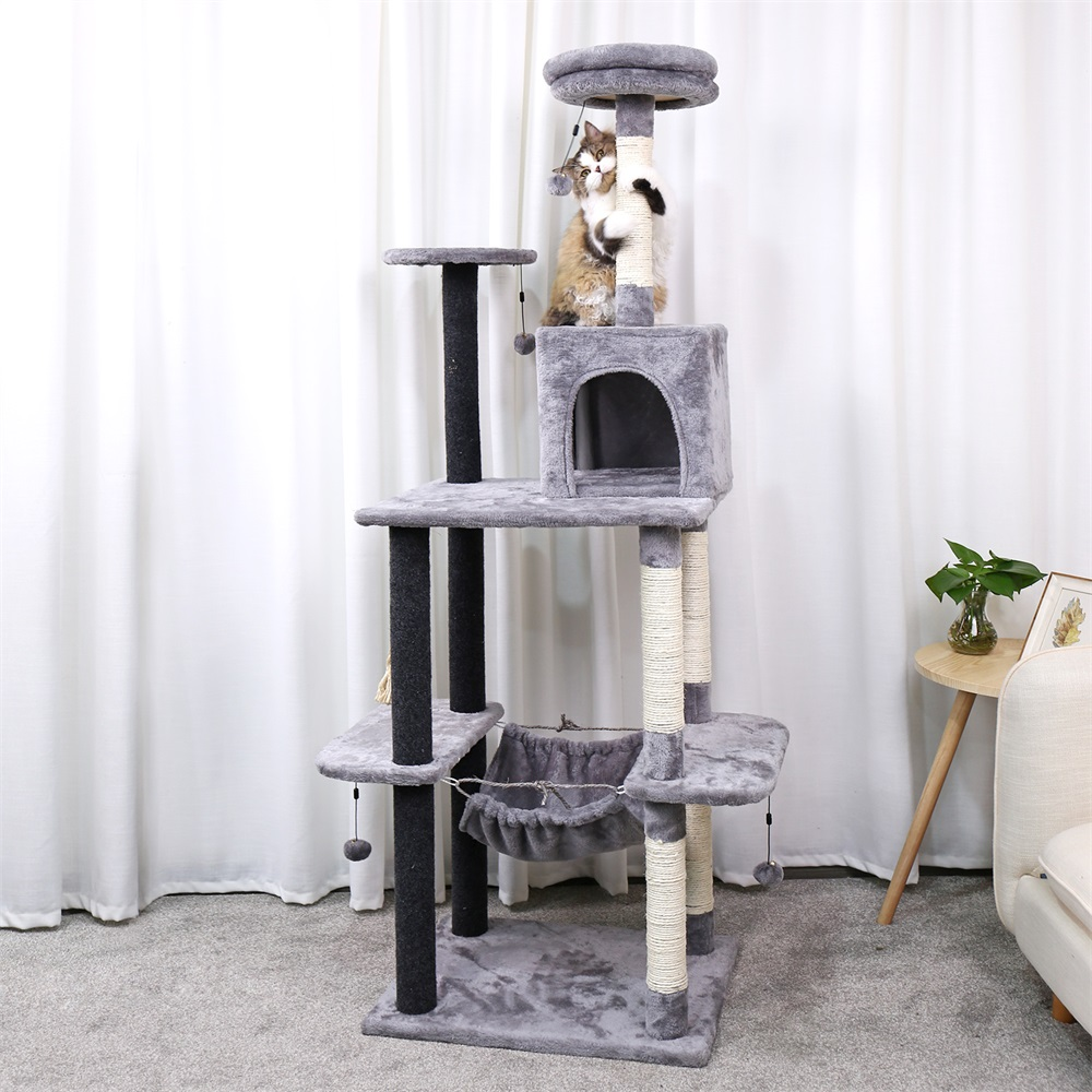 Livraison domestique arbre à chat tour animaux de compagnie jouer arbre à gratter arbre a chat escalade saut jouet cadre animaux de compagnie rascador gato