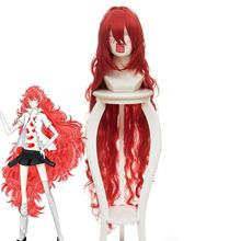 Terre de la brillante Padparadscha Cosplay cheveux longs chapeaux rouges(China)