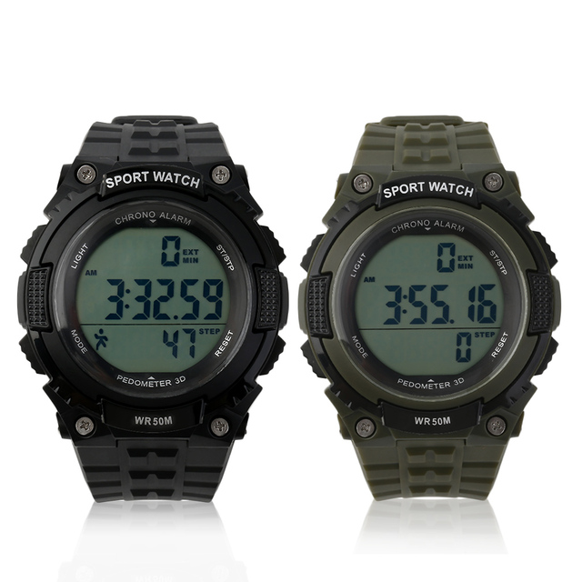New Arrivals Top Brand SKMEI Fashion Men Sports Watches Military 3D Pedometer Led  Electronic Digital Waterproof Wristwatch