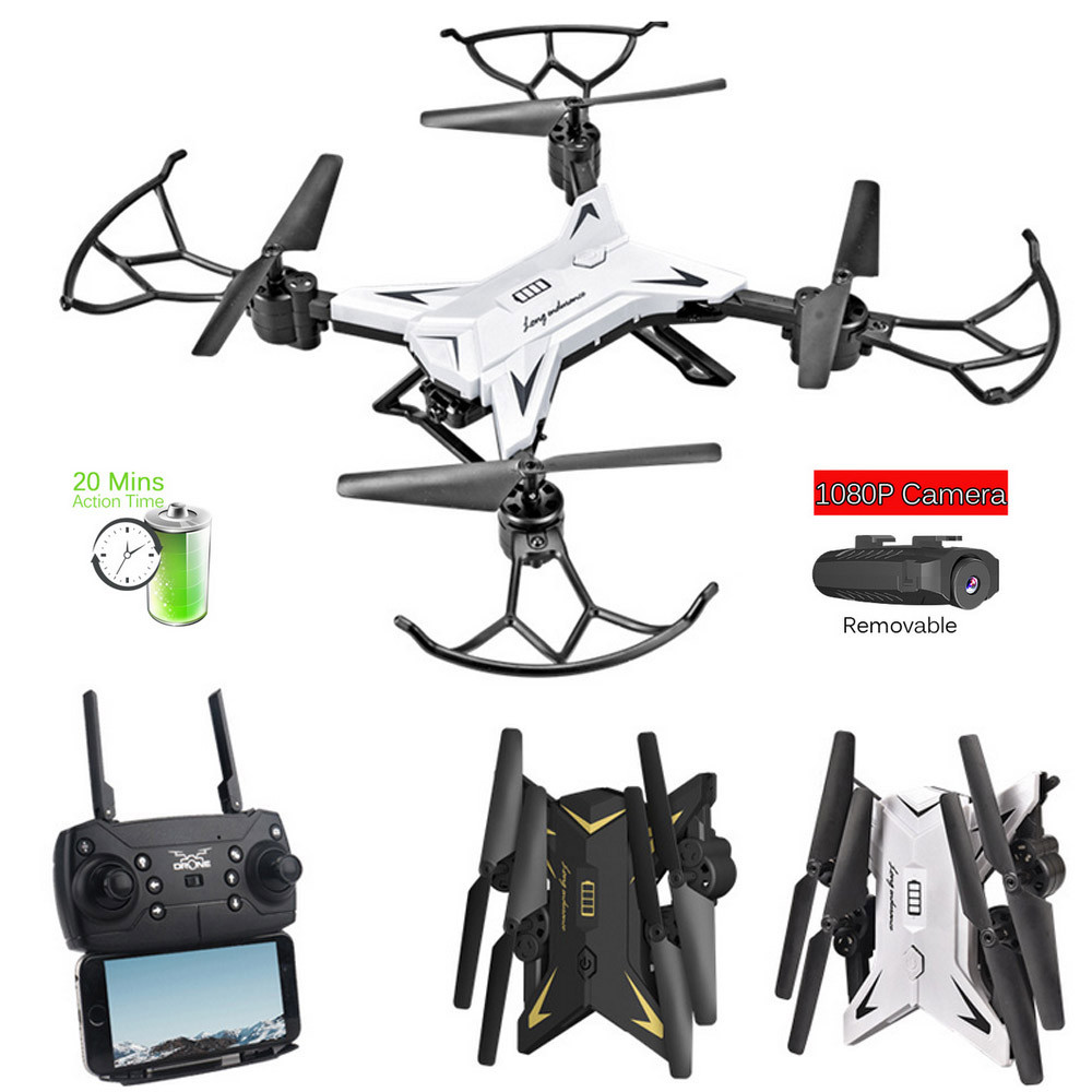 601S 1080P 5MP Quadcopter With Camera Foldable WIFI FPV Drone 20Min Flying 6-axis 4CH RC Helicopter Selfie Drones With Camera HD 7
