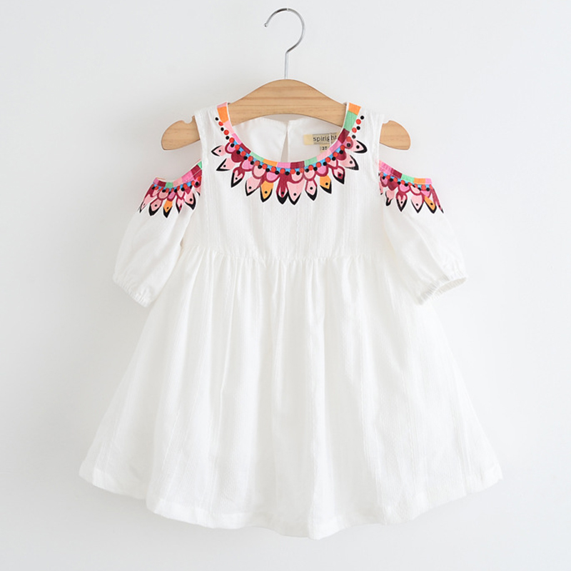 Keelorn Girls Dress 2017 New Summer Mesh Girls Clothes Dew Shoulder Princess DressChildren Summer Clothing Baby Girls Dress