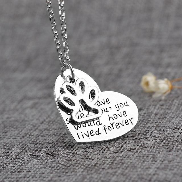 Aliexpresscom Buy Fashion 1Pc Dog Paw Print Love Heart Silver