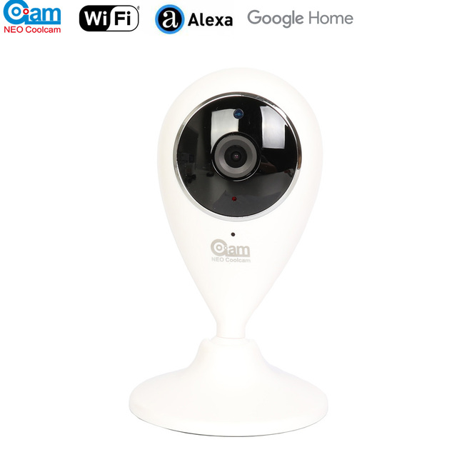 NEO COOLCAM caméra de surveillance IP Wifi NIP 55AI P, pour maison connectée, 720P, sans fil, avec carte SD 64 go, Compatible avec Alexa Echo Show et Google Home