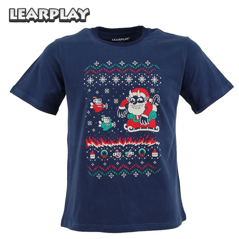 Cuphead Tidings T-shirt Pixel style Navy Adult's Tee Men's Summer Tops Shirt S M L XL 2XL