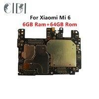 CIDI Volle Arbeits Entsperrt Für Xiao mi mi 6 mi 6 M6 6GB RAM 64 ROM WCDMA Motherboard Logic mutter Platine