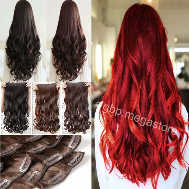 Real Good Quality 24 Curly Clip In Hair Extensions 1pcs Half Full