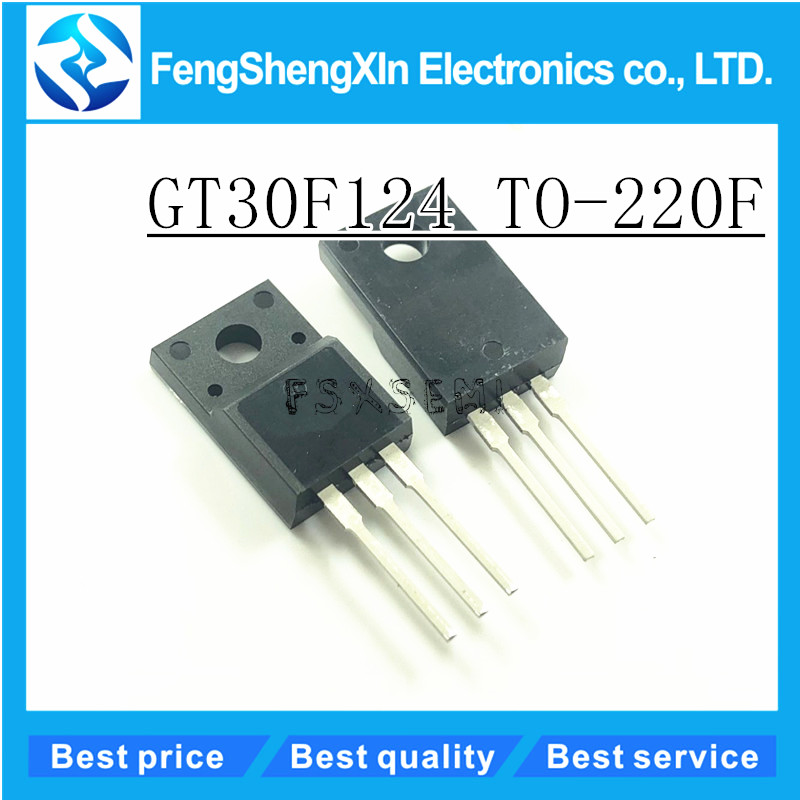 10pcs/lot GT30F124 30F124 TO-220F LCD plasma LCD power field effect tube IGBT tube