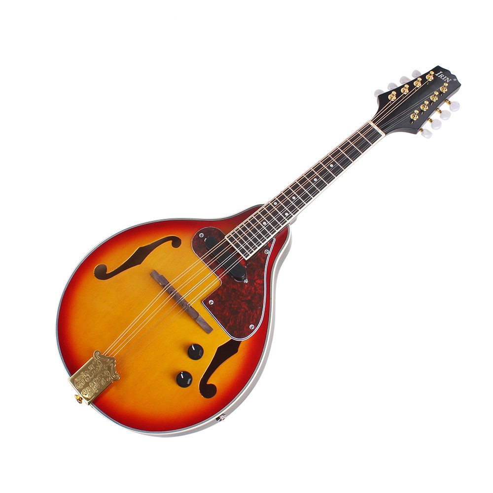 HOT-IRIN 8-String Electric Mandolin A Style Rosewood Fingerboard Adjustable String Instrument with Cable Strings Cleaning Clot цена