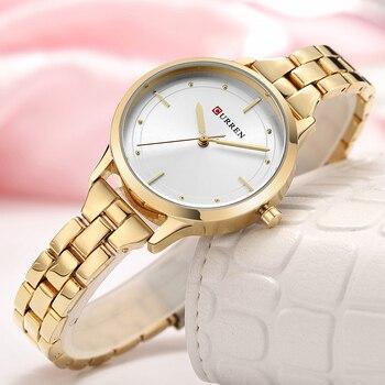 CURREN Women Luxury Casual Ladies Gold Watch Women Stainless Steel Bracelet Watch 30M Waterproof Luxury Quartz Female Watches дамски часовници розово злато
