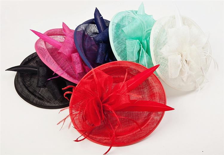 8710e88e0c6 Sinamay Fascinator Luxury Feather Flower Hair Clip Women Wedding Hats And Fascinators  Bridal Sinamay Headpiece Chapeu Casamento-in Women s Hair Accessories ...