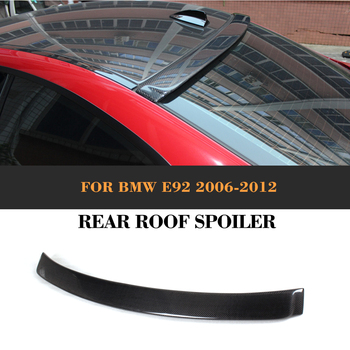 Carbon Fiber Rear roof spoiler Wing for BMW E92 3 Ser 2007 - 2012 Auto Racing Tail Roof Window Lip Wing Spoiler Car Cover