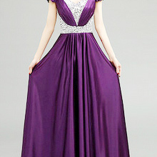 2ed1f2ae8f36c plus size tops sequin women floor-length dress gold purple formal gowns  lace up back