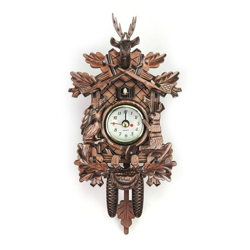 Awesome Us 13 08 32 Off Living Room Pendulum Clock Craft Art Clock For New House Et Vintage Home Decorative Bird Wall Clock Hanging Wood Cuckoo Clock In Download Free Architecture Designs Rallybritishbridgeorg