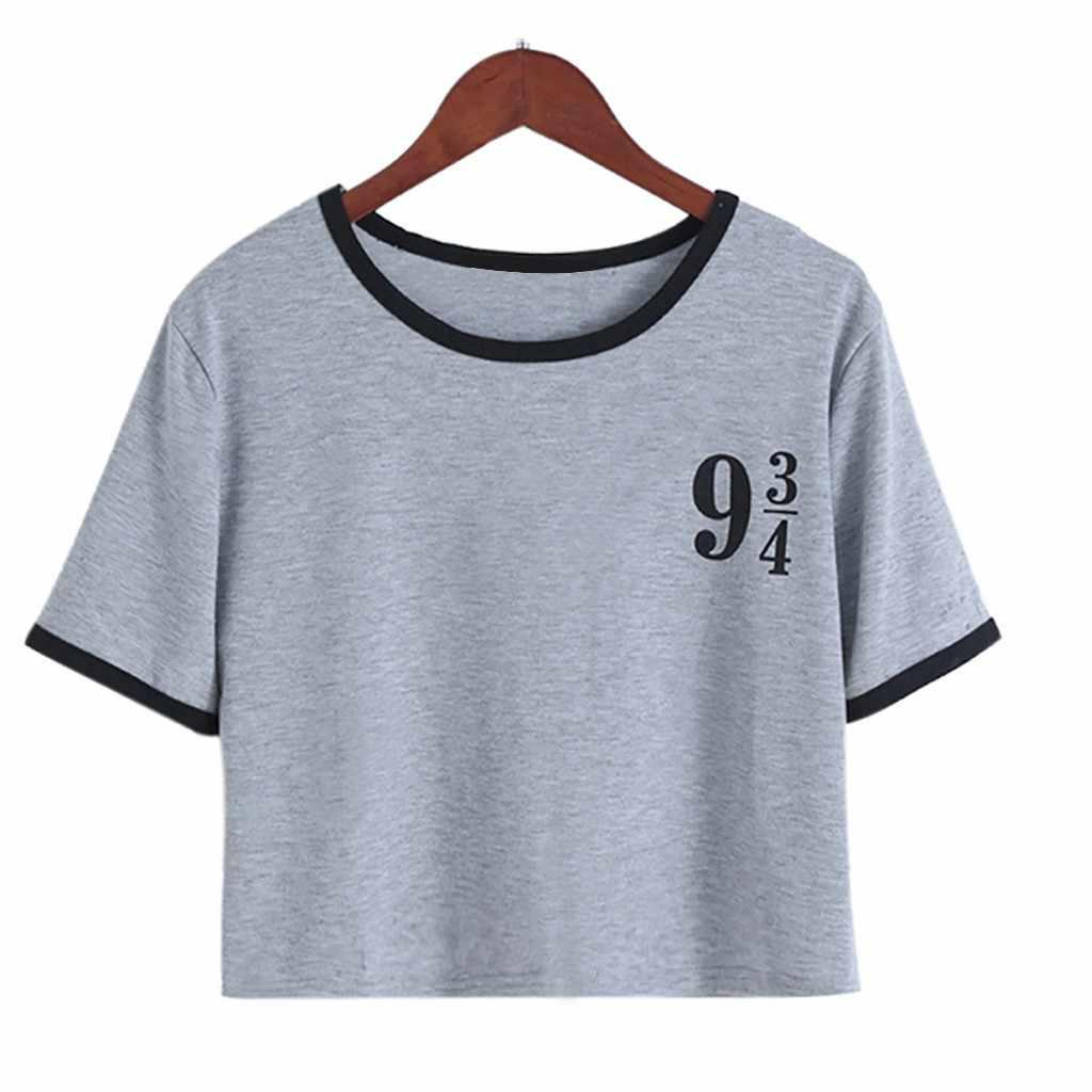 2019 ผู้หญิง Tshirt Harajuku แฟชั่นแขนสั้นเสื้อยืดเสื้อลำลองหลวม Top Poleras Camiseta Mujer ผู้หญิงด้านบนเสื้อ Poleras