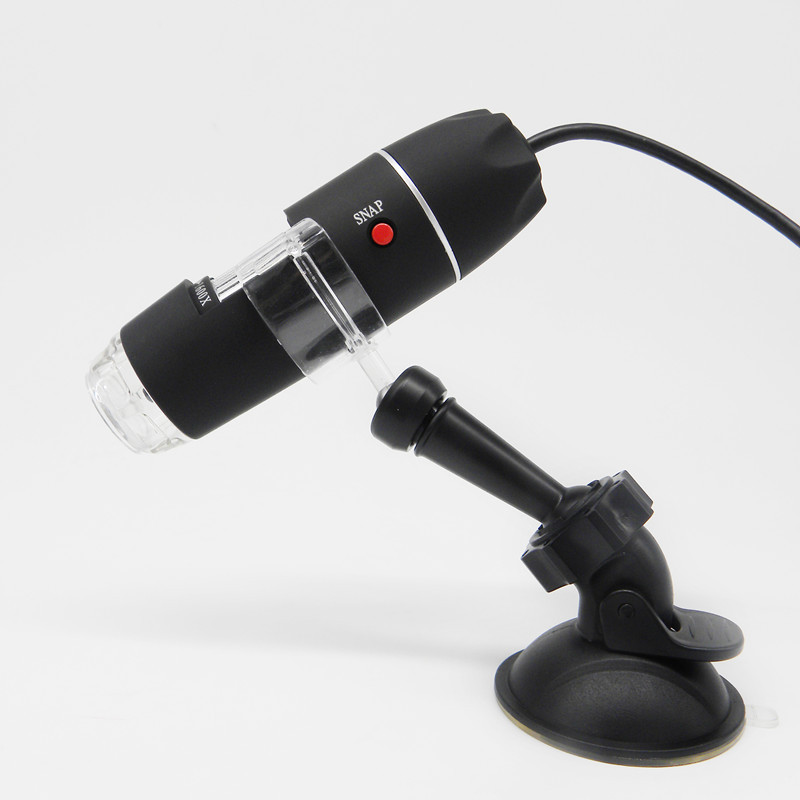 Car Suction Cup Mount Holder with Mega Pixels 1600X 8 LED Digital Microscope USB Endoscope Camera Microscopio Magnifier