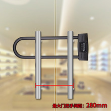 Glass door lock U extended 4-digit combination is more reliable than intelligent electronic
