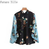 Future Time Women Long Sleeve Floral Sweet Blouse Autumn Female Casual Plus Size Fashion Shirt Feminine Elegant Office Top SC878