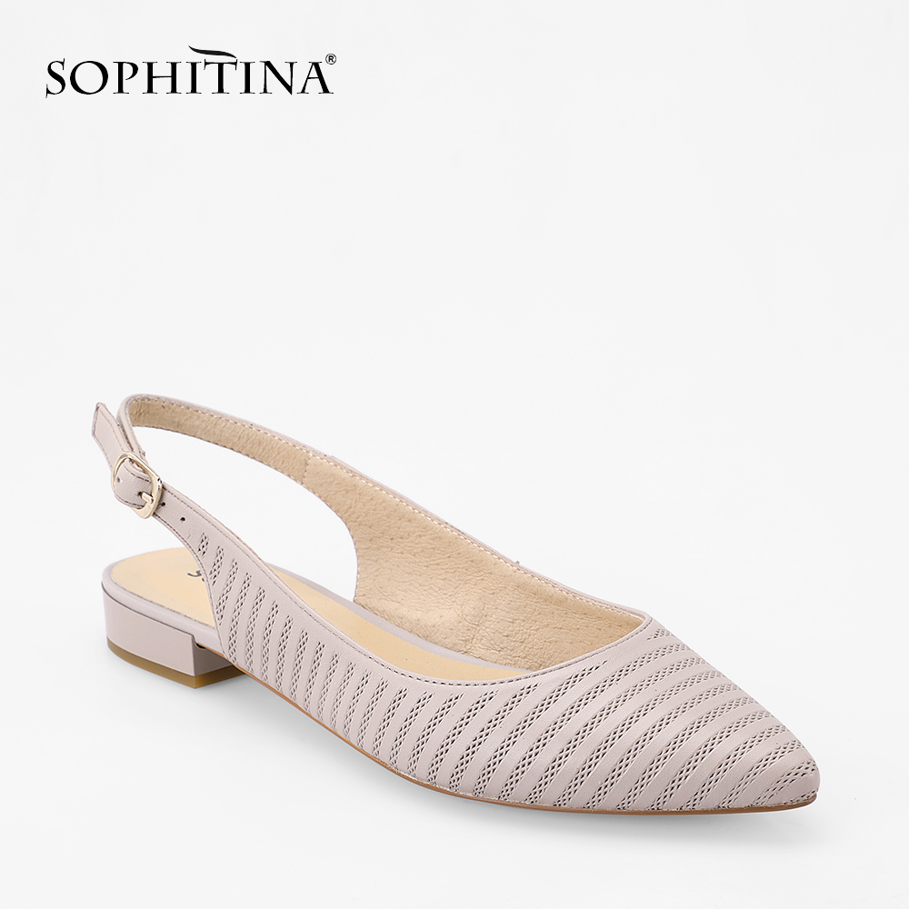 SOPHITINA Gingham Sheepskin Flats Sexy Pointed Toe Genuine Leather Slingbacks Flats High Quality Handmade Office Lady Shoes P64 dynacord dynacord p64
