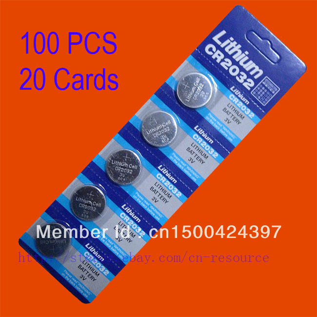 100 x CR2032 BR2032 2032 3 V LITHIUM-BATTERIEN SCHIFF
